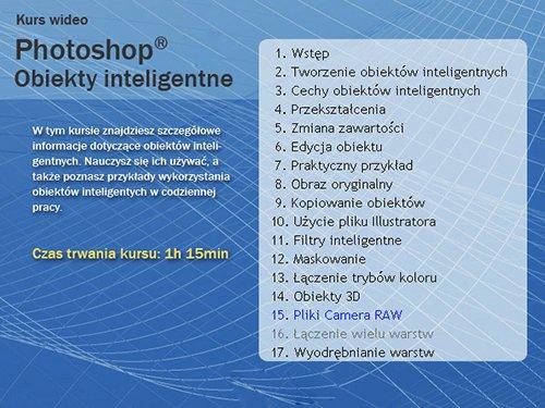 Wideo Kurs Photoshop Obiekty inteligentne (PL)